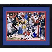 "$110 » Framed Mario Manningham New York Giants Autographed 8"" x 10"" Super Bowl XLVI Catch Photograph - Fanatics Authentic Certified"