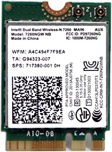 HP Intel 7260NGW NB Dual Band Wifi 717380-001 802.11 a/b/g/n WiFi Card
