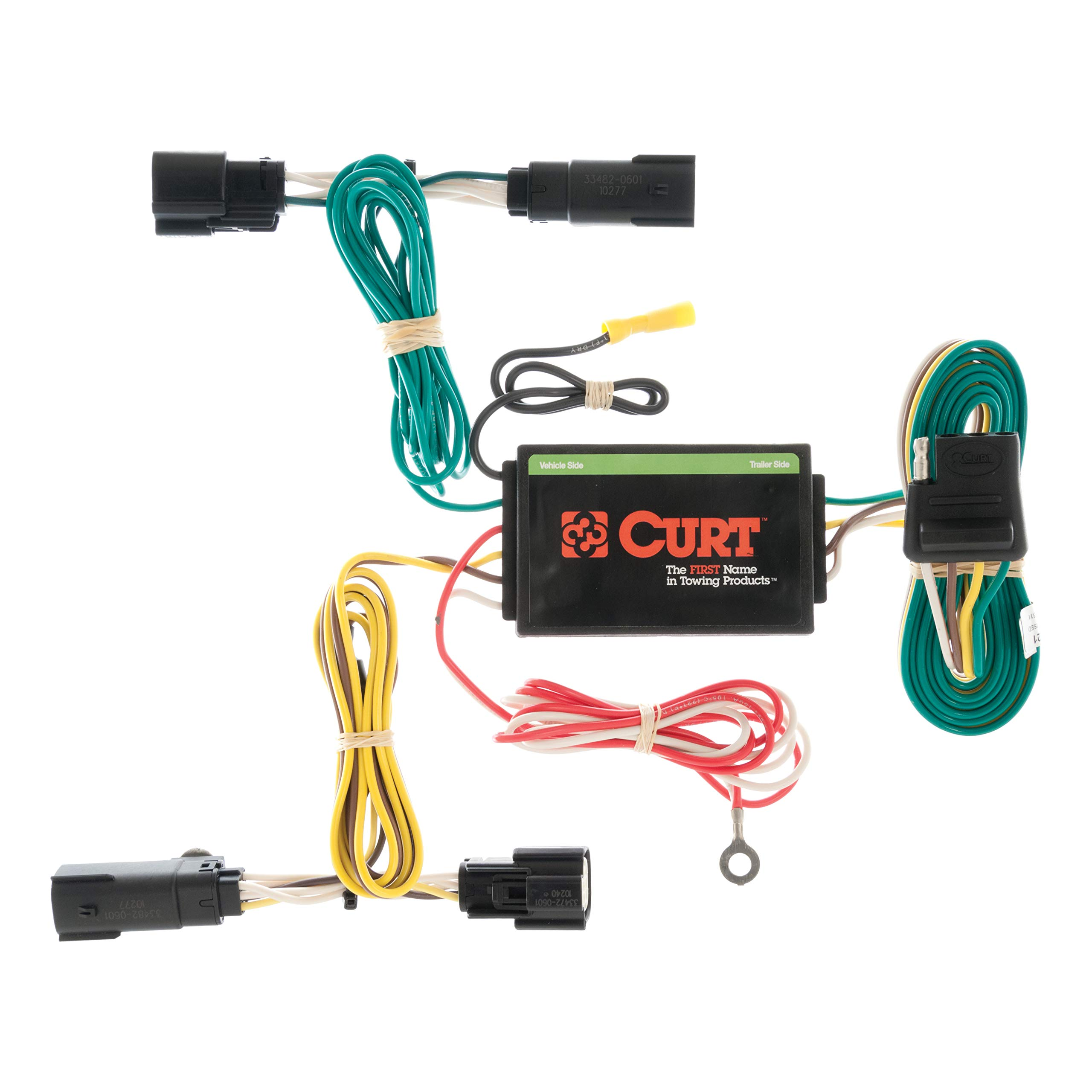 CURT 56121 Vehicle-Side Custom 4-Pin Trailer Wiring Harness for Select Lincoln MKX by CURT