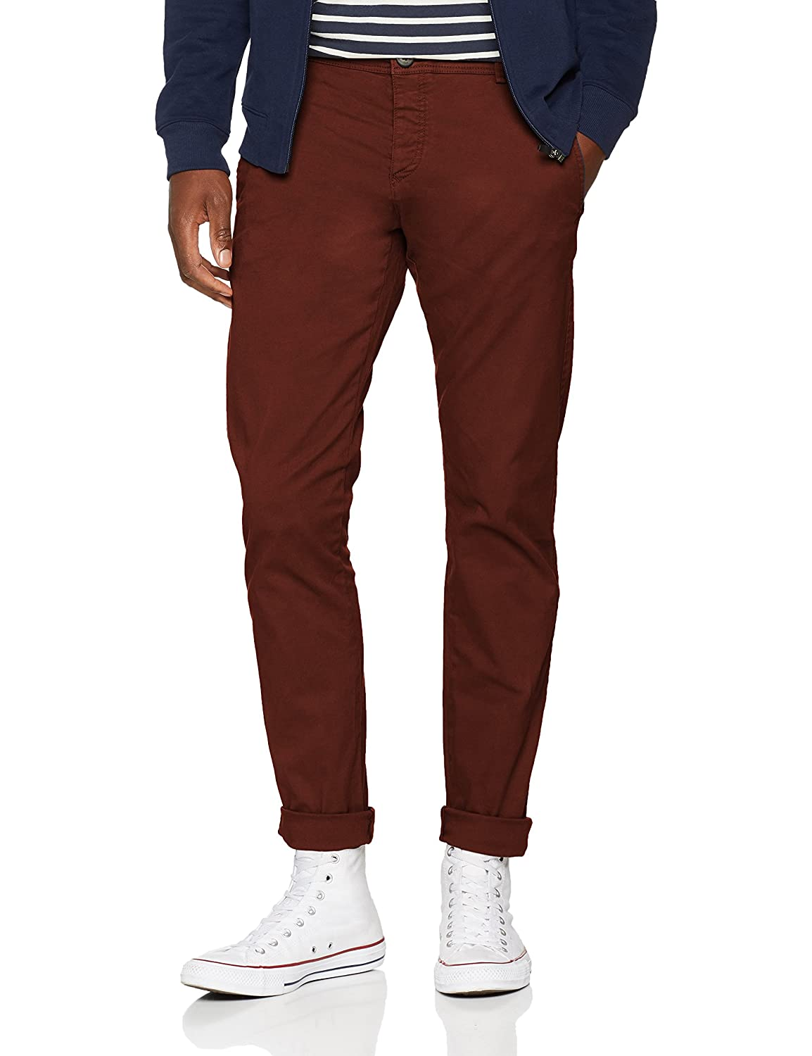 TALLA 29W / 32L. SELECTED HOMME Slhskinny-Luca B. Chocolate Pants W Noos, Pantalones para Hombre