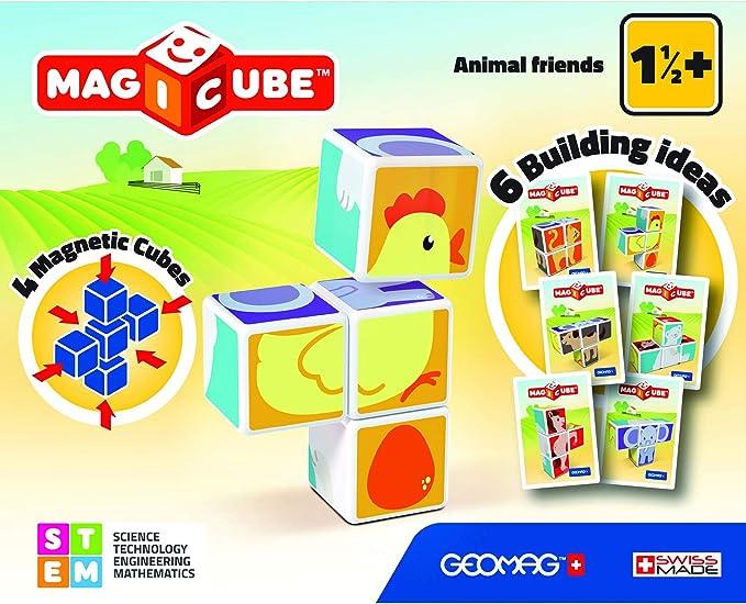 Geomag- Magicube Juguete de construcción, Multicolor, 4 Piezas (132) , color/modelo surtido: Amazon.es: Juguetes y juegos