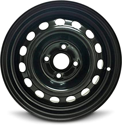 14 Inch Tires >> Road Ready Car Wheel For 2012 2017 Hyundai Accent 14 Inch 4 Lug Black Steel Rim Fits R14 Tire Exact Oem Replacement Full Size Spare