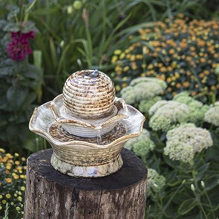 Amazon Com Foreside Home Garden Tiered Ball Indoor Water Fountain With Pump Outdoor Tabletop Fountains Garden Outdoor