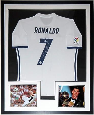 7677a8fa2 Cristiano Ronaldo Signed Authentic Jersey   Juventus   Ballon D Or 8x10  Photo - BAS