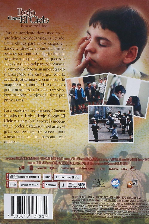 Amazon.com: Rojo Como El Cielo (Rosso Come Il Cielo) [*NTSC/Region 1 and 4 dvd. Import - Latin America] (Spanish subtitles): Luca Capriotti, ...