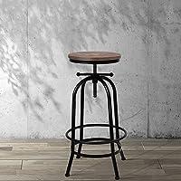 Artiss Vintage Industrial Bar Stool Retro Round Kitchen Counter Dining Chair