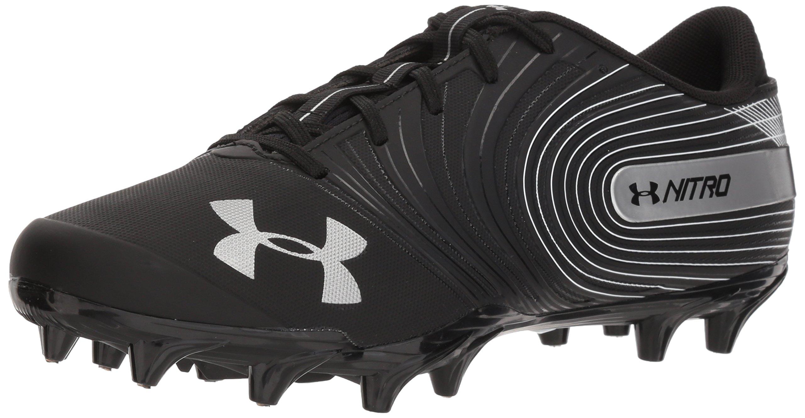 Under Armour Men's Nitro Low MC Football Shoe, Black (001)/White, 12.5