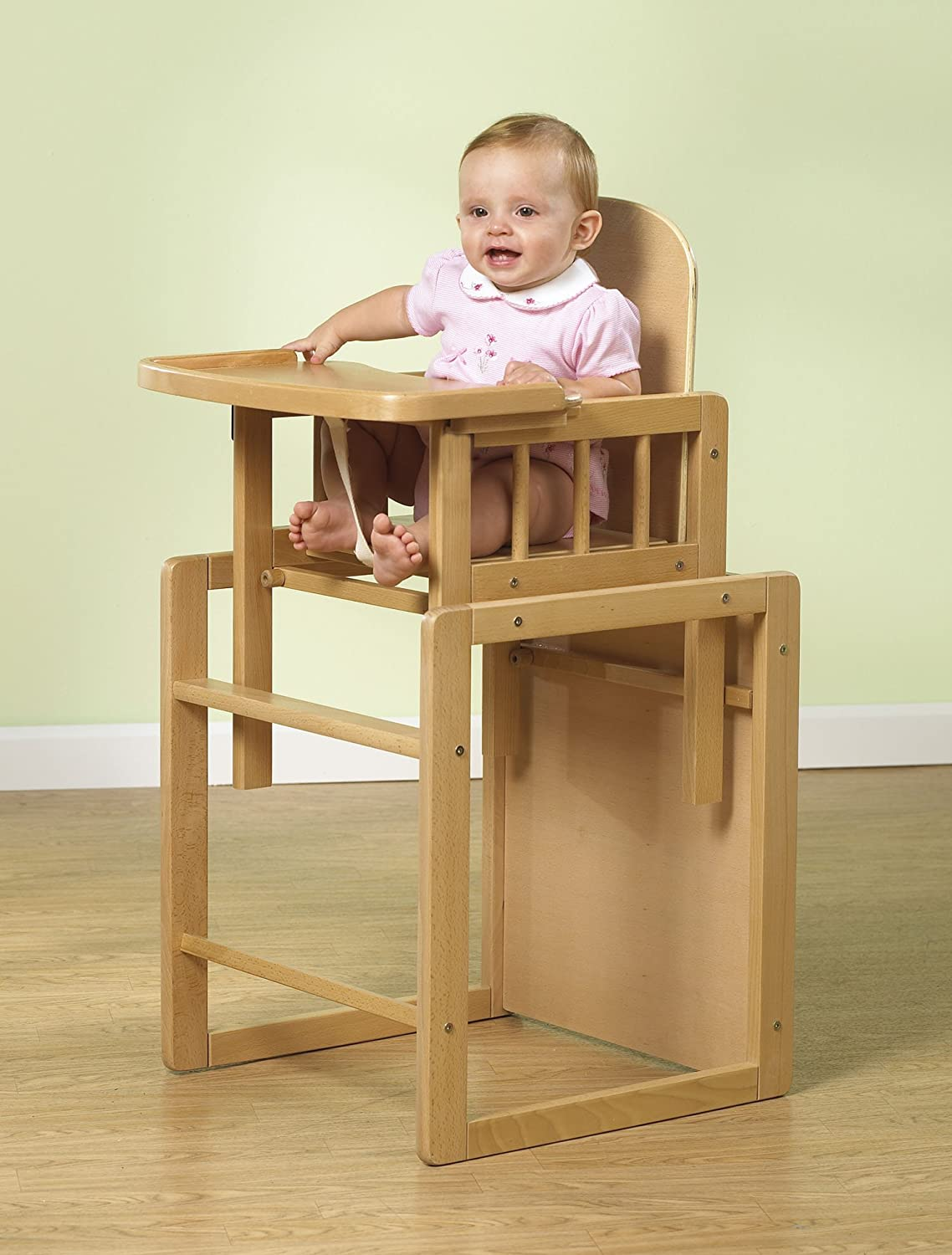 Amazon.com : Primo Poppy Plus Deluxe Highchair, Natural Beech Wood :  Childrens Highchairs : Baby