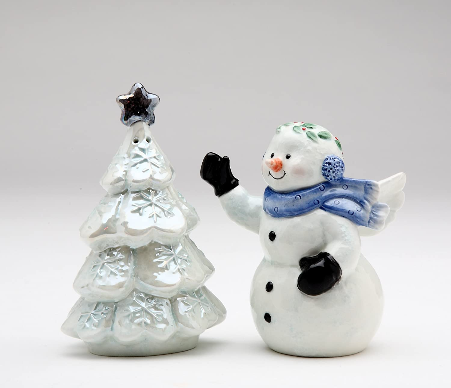 Amazon Com Cosmos Gifts 10576 Fine Ceramic Snowman And Christmas