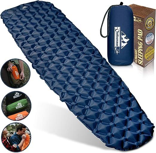Outdoorsman Ultralight Inflatable Mat With Bag & Repair Kit