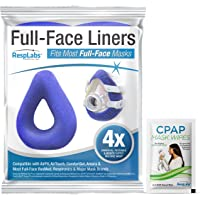 RespLabs CPAP Mask Liners for Full Face Masks - Universal 4 Pack - Moisture Wicking, Pressure Reducing, Comfort…