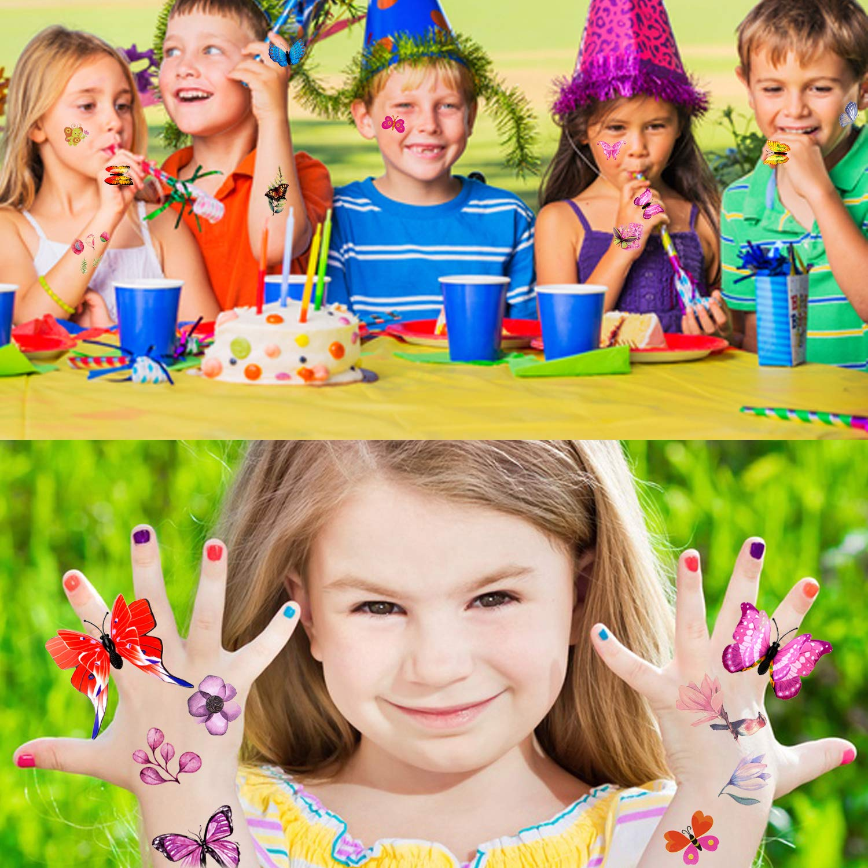 Howaf 32 Piezas Art/ículos de Fiesta Cumplea/ños Ni/ños 3D mariposa Anillo juguetes y tatuajes Temporales para pi/ñatas Infantil cumplea/ños Regalo Ni/ño Ni/ña