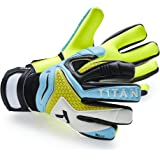 T1TAN Rebel Goalkeeper Gloves with or without finger protection / Goalkeeper Gloves with 4 mm Grip / Football Gloves with Inseam / Multiple Colours / Different Sizes