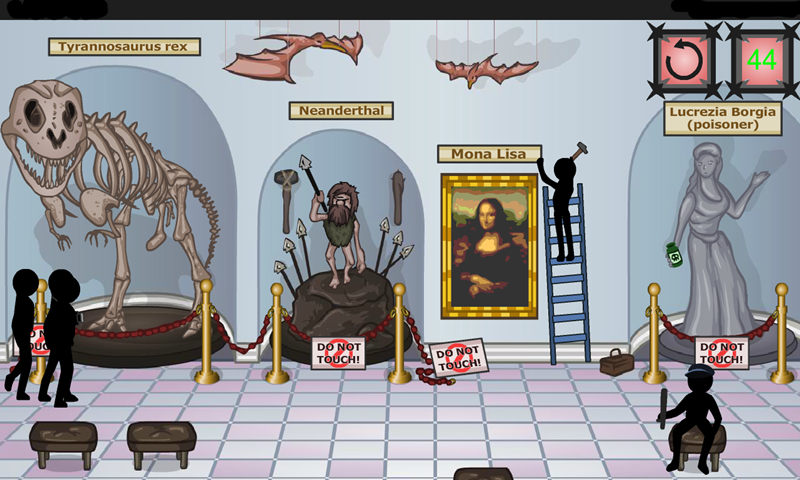 Amazon.com: stickman games: Stickman Bloody Monna Lisa: Appstore for Android