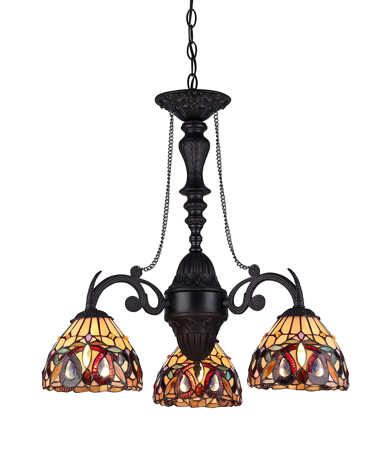Chloe lighting ch33353vr21 dc3 serenity tiffany style victorian 3 chloe lighting ch33353vr21 dc3 serenity tiffany style victorian 3 light mini chandelier with 205 inch width amazon aloadofball Gallery