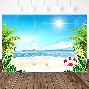 Amazon.com: Mocsicka Tropical Beach Fotografía Fondo Hawaii ...