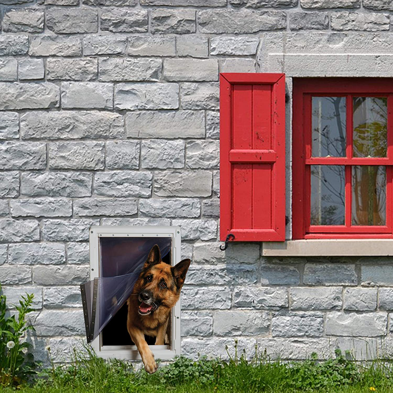 "Ideal Pet Products Designer Series Ruff-Weather Pet Door Wall Installation Kit, Super Large, 15"" x 23.5"" Flap Size, Grey (DSRWSLWK)"