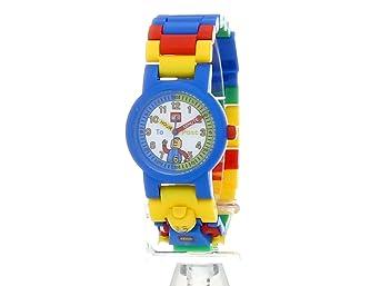 LEGO 9005008 Time Teacher Blue Kids Minifigure Link Buildable Watch, Constructible Clock and Activity Cards | blue/green | plastic | 28mm case diameter| analog quartz | boy girl | official
