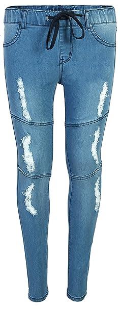 5886bd1577 WallFlower Jeans Girls Soft Denim Stretchy Jeggings, Light Wash w/Rips,  Size 7