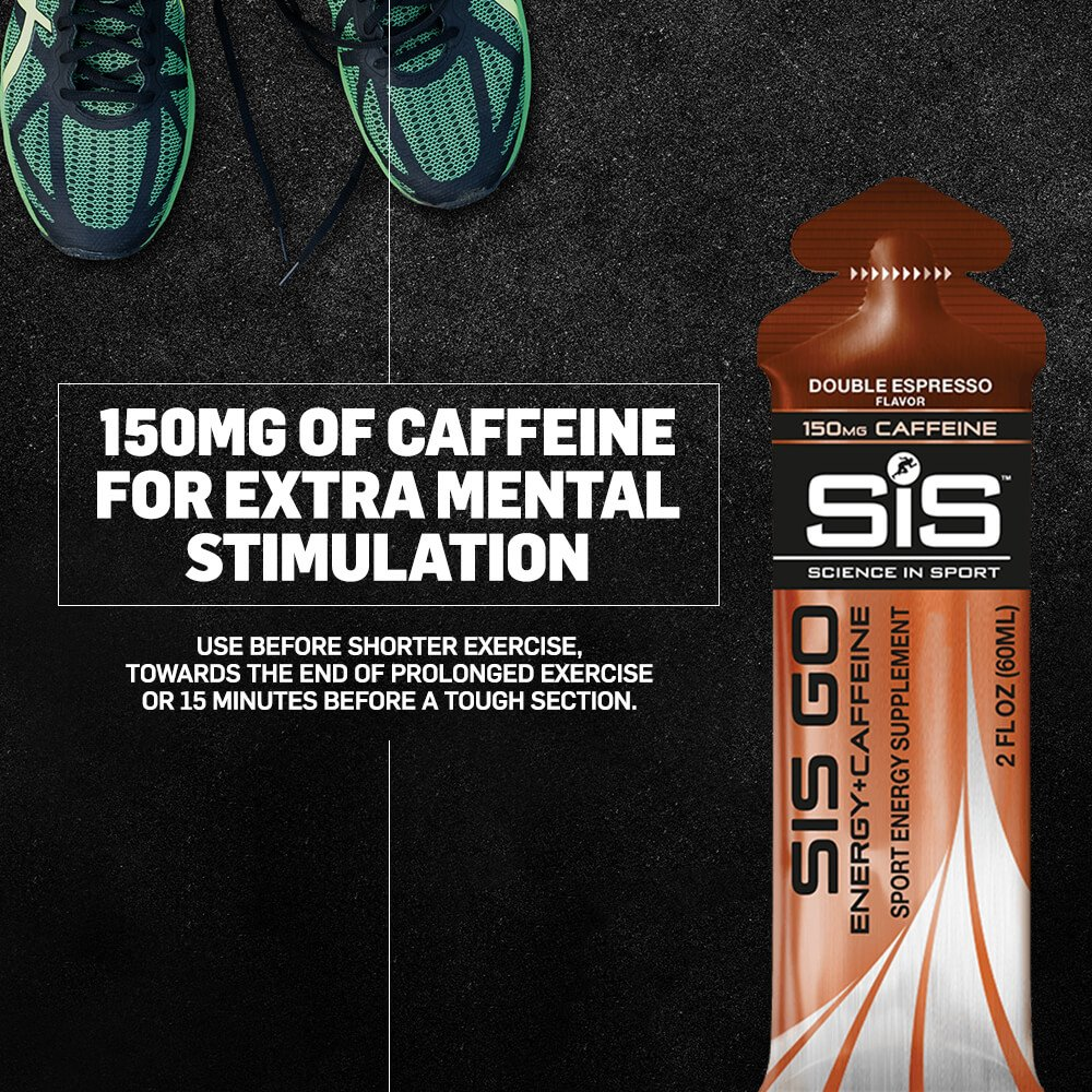 Science in Sport Energy Gel Pack, SIS Energy Gel + Caffeine, 22g Fast Acting Carbs, Performance & Endurance Gels, Double Espresso Flavor - 2 Oz. (30 Pack) by Science in Sport (Image #2)
