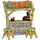 Miniature Fairy Garden Tiki Bar and Stools, 3 Piece Set