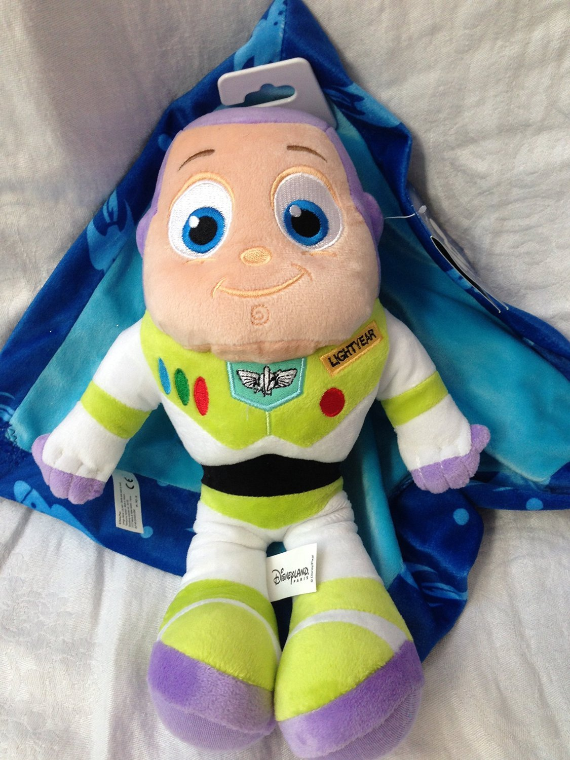 Original authentic Disney Store - Buzz Lightyear felpa con una manta - 33 cm: Amazon.es: Juguetes y juegos