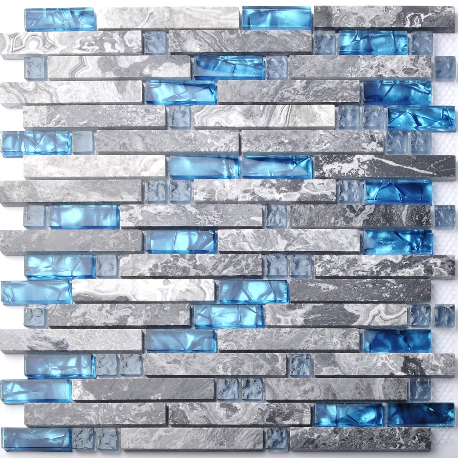 high-quality Home Building Glass Tile Kitchen Backsplash Idea Bath ...