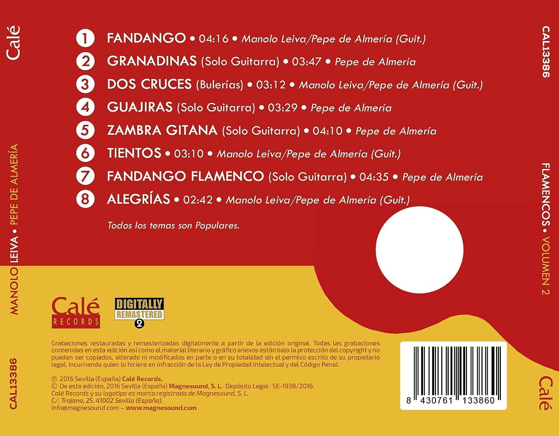 Flamencos, Vol. 2: Manolo Leiva, Pepe de Almería: Amazon.es: Música