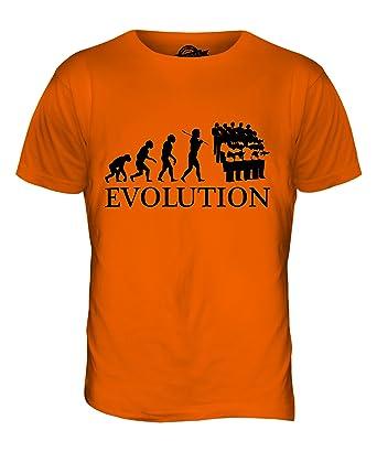 CandyMix Chor Musik Evolution Des Menschen Herren T Shirt, Größe X-Small,  Farbe