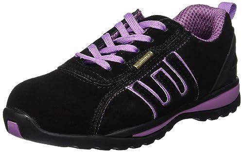 Léger Sécurité Lacets Acier Chaussures En À CuirEmbout De Groundwork Femmes Dessus SzUqMVp