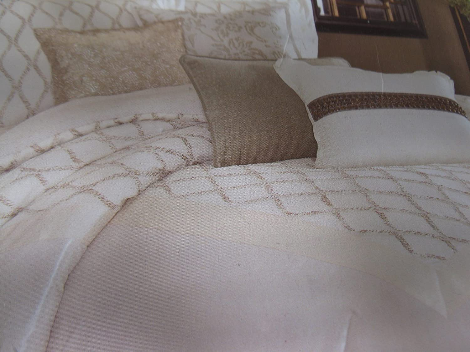 home set com comforter qvc vince damask camuto product reflections page