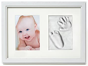 amazon com premium baby hand and footprint frame kit by 2 little