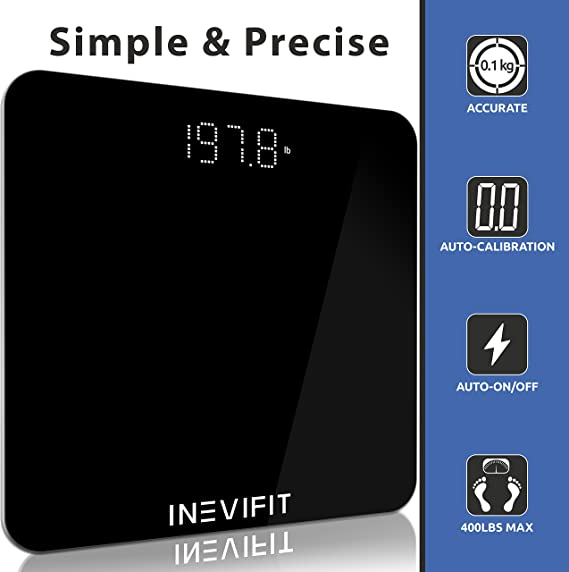 INEVIFIT Highly Accurate Digital Bathroom Body Scale