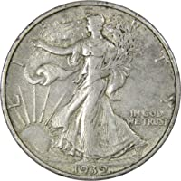 1939 S 50c Liberty Walking Silver Half Dollar Coin XF EF Extremely Fine