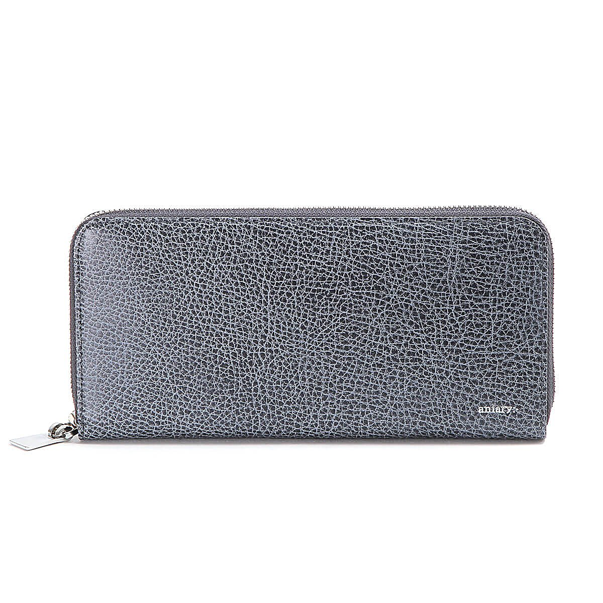 アニアリ 長財布 ラウンドL Zip Bill Holder Grind Leather 15-20003 B077TDR7HQ NavyGray NavyGray