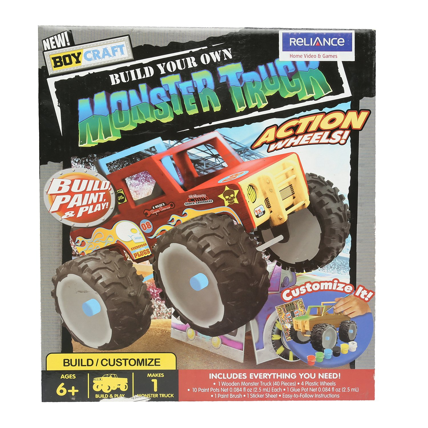 Amazon Com Boy Craft Make Your Own Monster Truck Toys Games