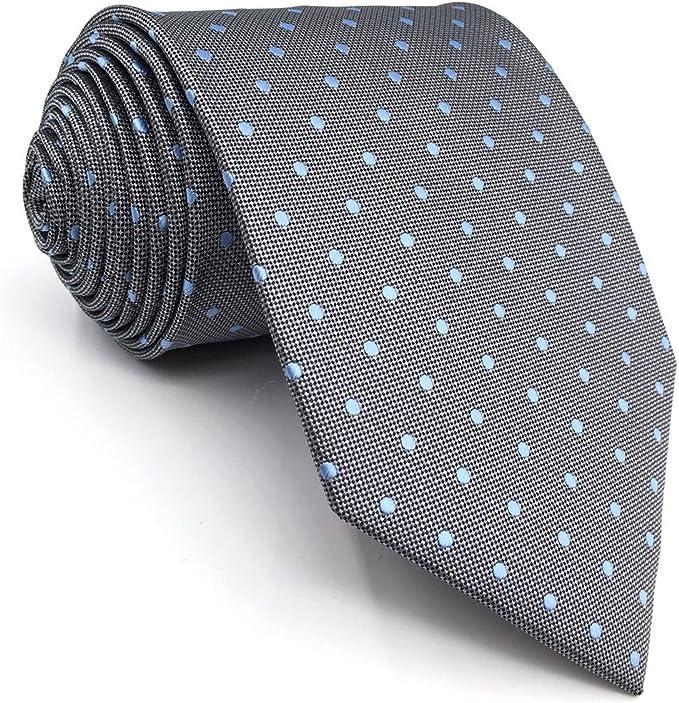 shlax&wing Nuevo Diseño Puntos Corbatas Para Hombre Gris Azul Seda ...