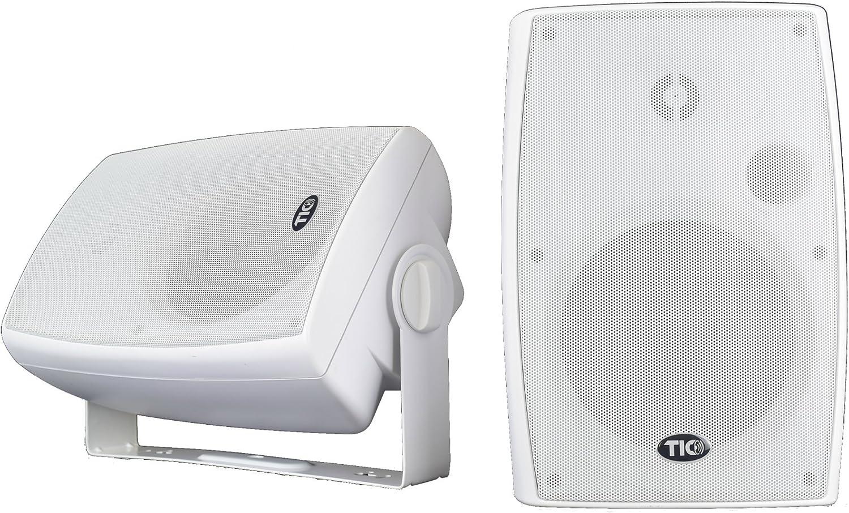 "TIC WPS6-W 6.5"" Indoor-Outdoor Weather-Resistant WiFi Multiroom Speakers with AirPlay (Pair) - White"