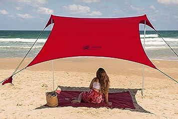 Amazon.com: Parasol para tienda de campaña de playa, tamaño ...