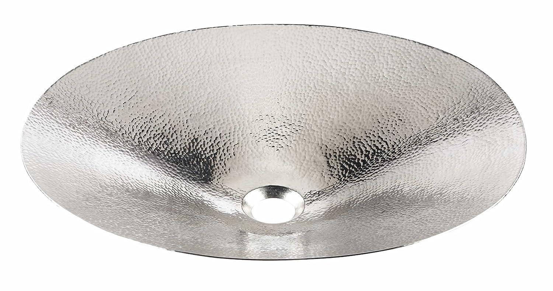 Sinkology SB307-19N Mendel Handcrafted Above Counter Vessel Sink, 19, Hammered Nickel by Sinkology B00Z6S45PW