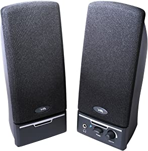Cyber Acoustics CA-2014rb Amplified Computer Speaker System 2.0-Channel - Black