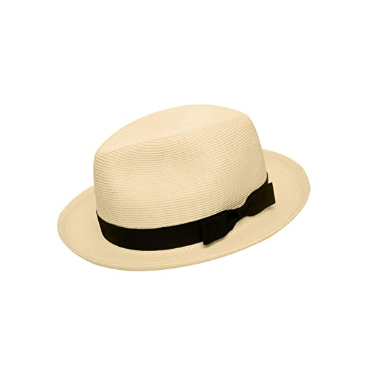 ad52651cb Pineapple&Star Genoa Fedora Bucket Sun Straw Beach Hat Fine Braid UPF50+  Unisex