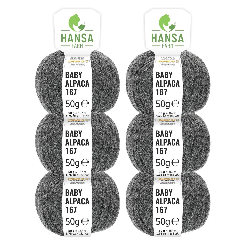 100% Alpakawolle 300g (6 x 50g) - - - Baby Alpaka Wolle (weich - kratzfrei) zum Stricken & Häkeln - 50+ Farben & 6 Garnstärken - Blau-Grün Heather B073Z2SPJF Hkel- & Strickgarn 98ecd0