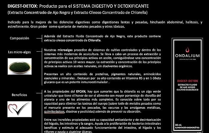 Ondalium Digest-Detox | Extracto fluido Digestivo de Ajo Negro ...