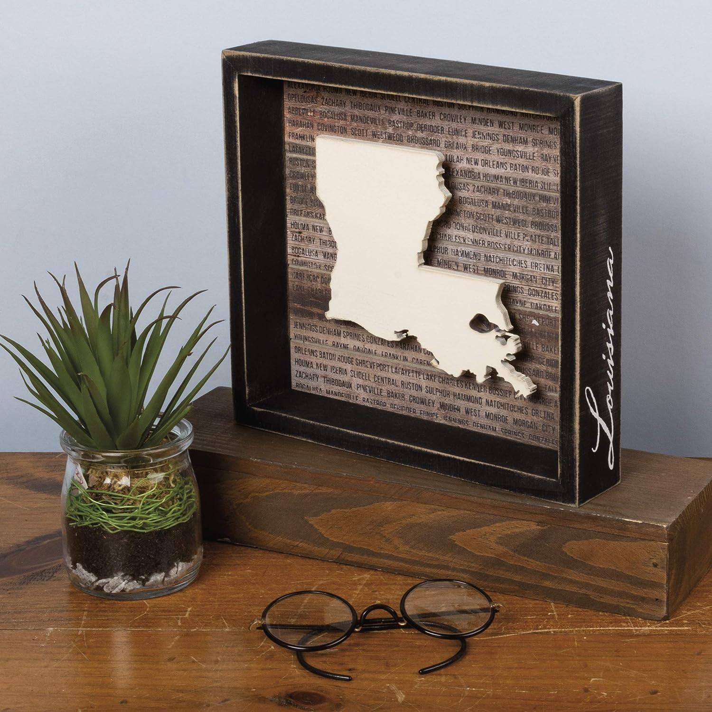 Primitives by Kathy Louisiana Wanderlust Box Sign, 8.5