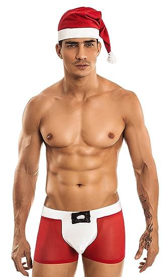 Miami Jock Mj1089 Santa Red White Mens Underwear At Amazon Men S
