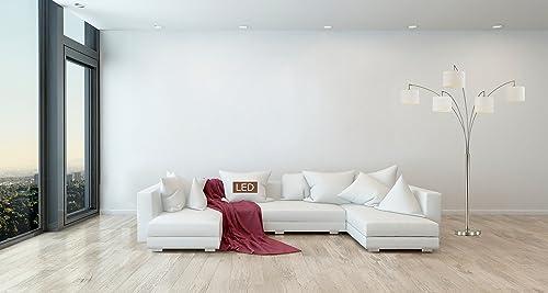 Artiva USA LED602805FSN 83″ LED Arched Floor Lamp