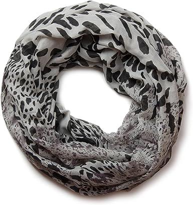 Fular de tubo con estampado de leopardo