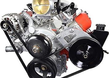 ICT Billet LS Truck Alternator /& Power Steering Pump Relocation Bracket Kit Accessory Kit LSX Saginaw 551396-3