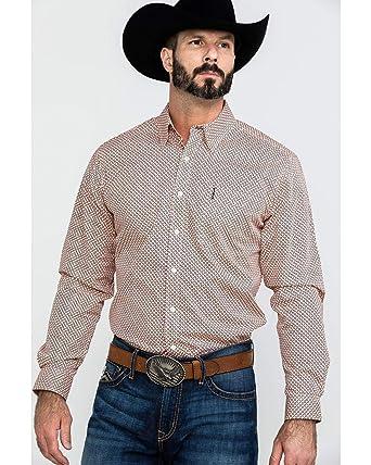 Cinch Men S Modern Fit Long Sleeve Button One Open Pocket Print